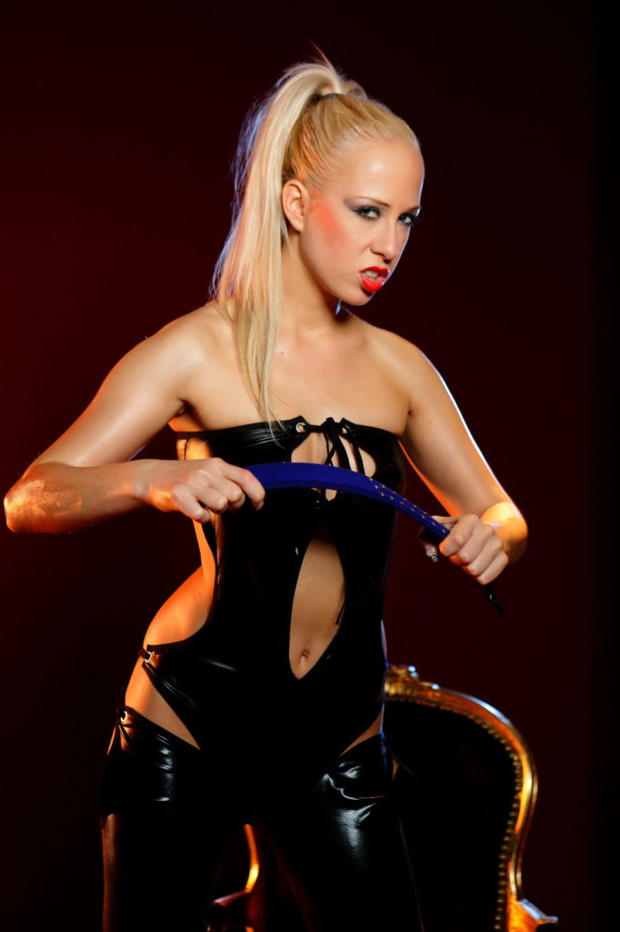 Sexy Blonde Dominatrix