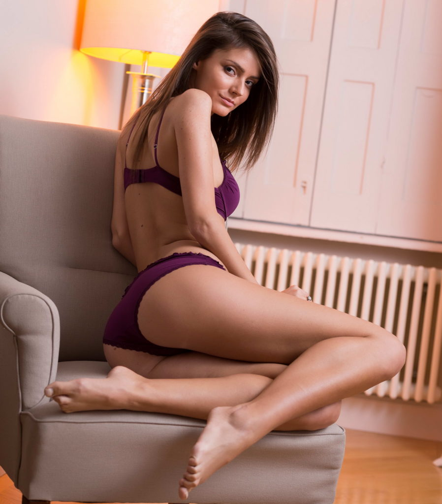 Slim Brunette With Tall Body