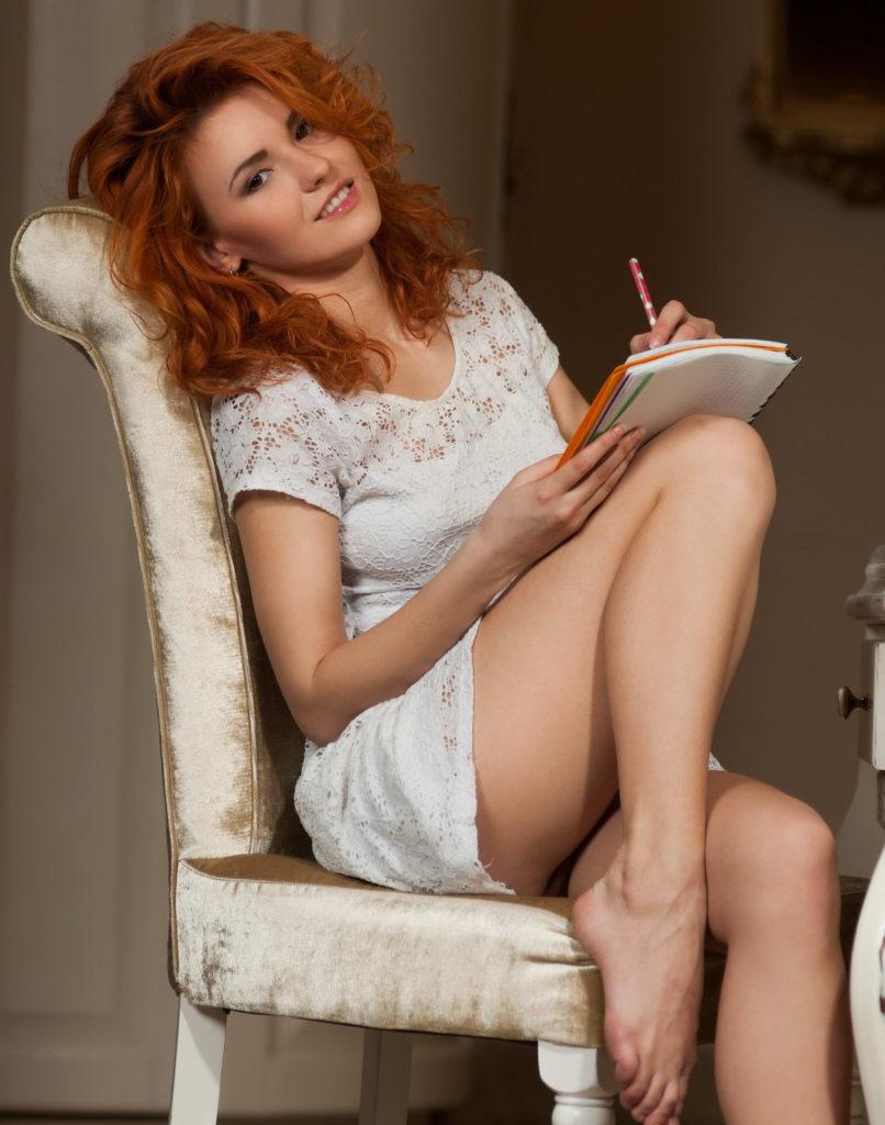 Sexy Redhead Petite Body