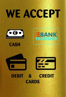 All Major Debit And Credit Cards